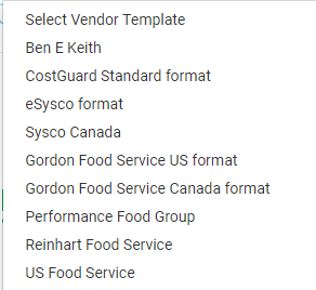 Lets Import A Sysco Order Guide